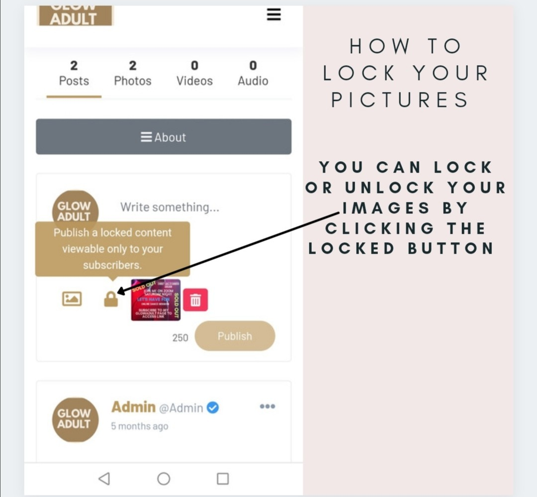 How to lock your Pictures?