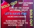 Join me on zoom Saturday night. Let's have fun in my online dance session! Subscribe to my page to access link.